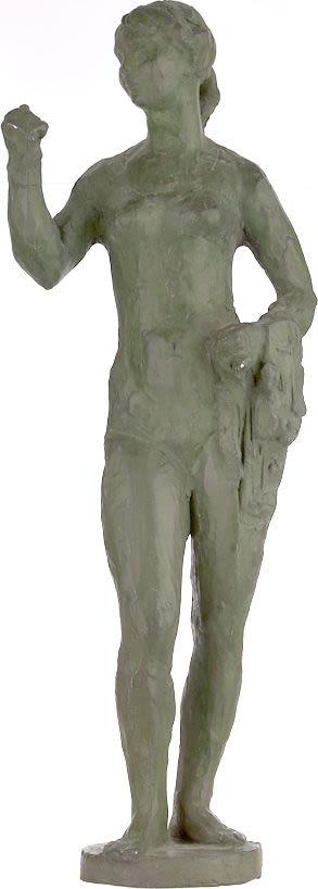 """Скульптура """"Купальщица"""" 1940-х гг. выдающегося художника и скульптора ХХ века Сарры Лебедевой на аукционе 193 лот 618."""